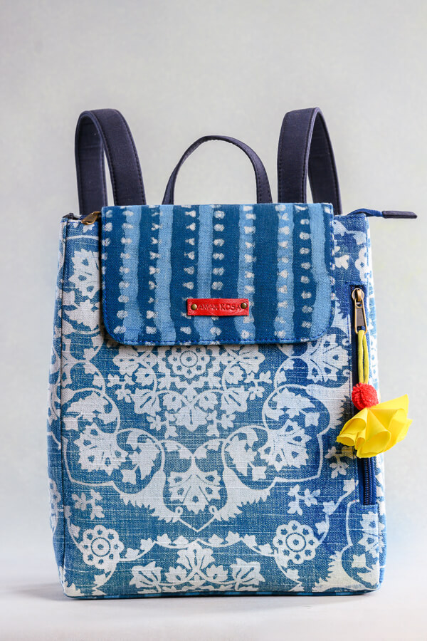 AMAR-KOSA-Accessories-Work-Bags-Indigo-Backpack-Hand-Block-Print-Made-In-India