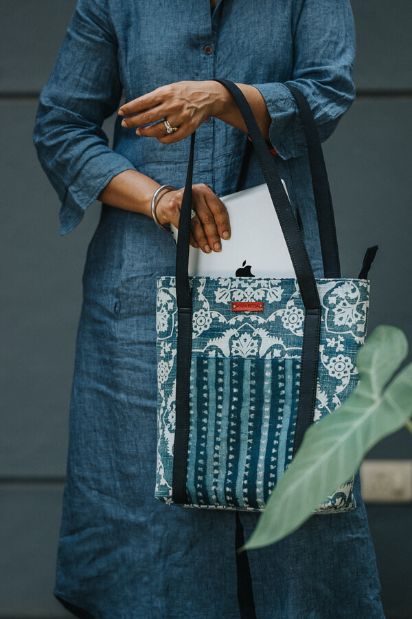 AMAR-KOSA-Accessories-Work-Bags-Indigo-Small-Tote-Block-Print-Made-In-India