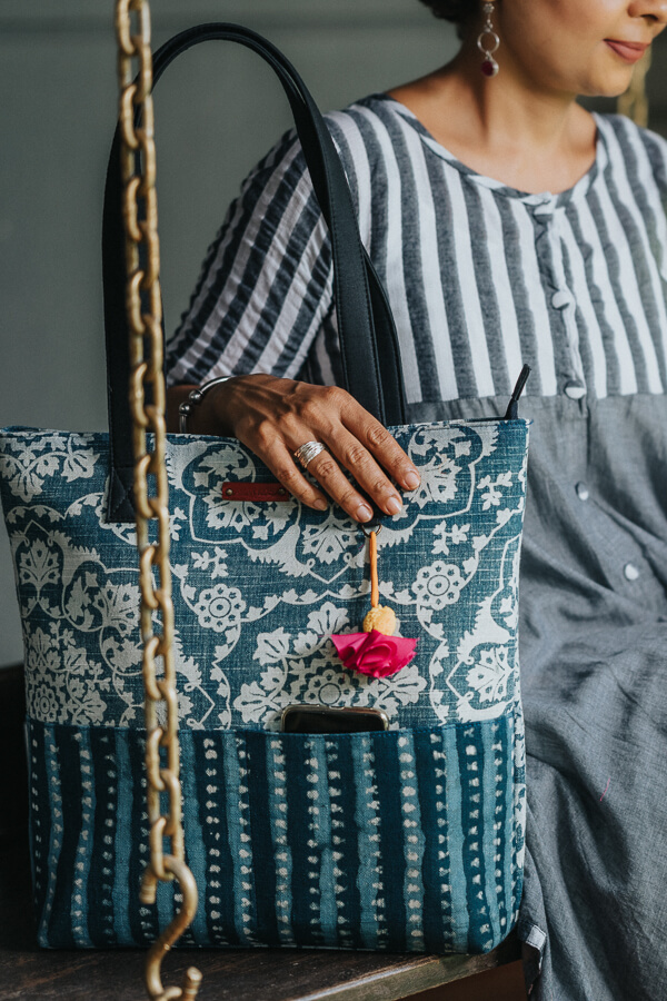 AMAR-KOSA-Accessories-Work-Bags-Indigo-Tote-Block-Print-Made-In-India