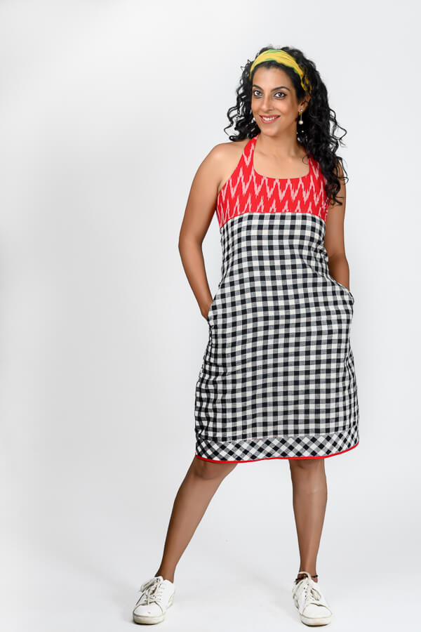 AMAR-KOSA-Gingham-Checks-Check-Me-Out-Dress-Cotton