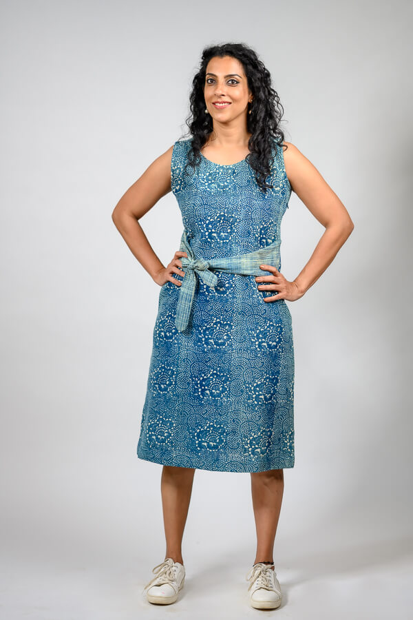 AMAR-KOSA-Indigo-Sash-Dress-linen-hemp-fabric