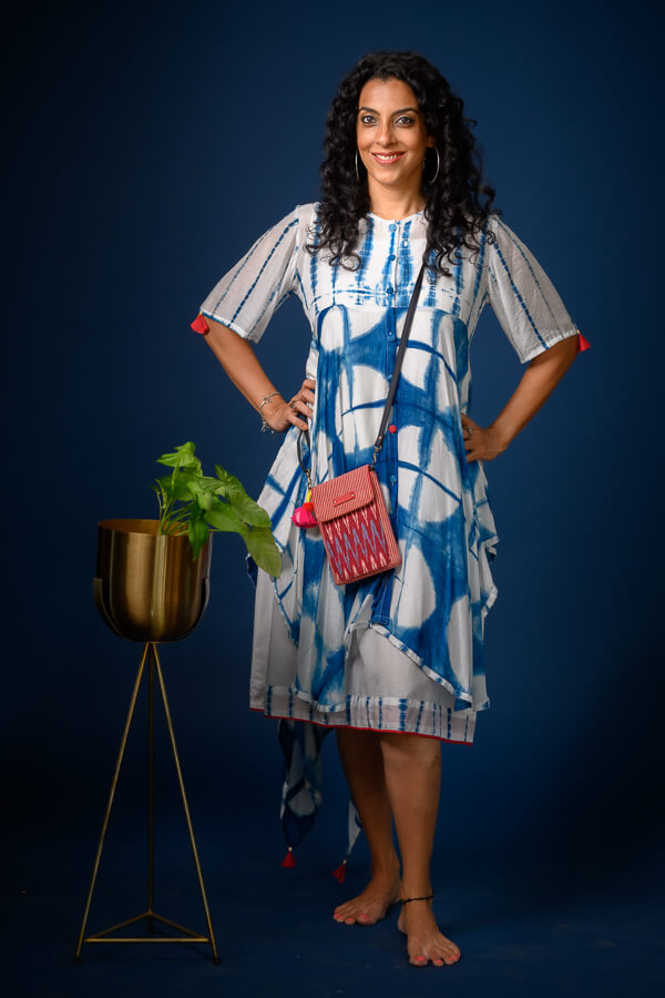 AMAR-KOSA-Shibori-Asymmetric-Dress