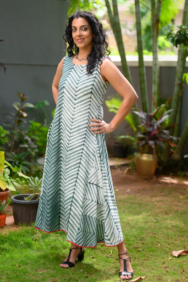 AMAR-KOSA-Shibori-Maxi-Cotton-Mulmul-Dress