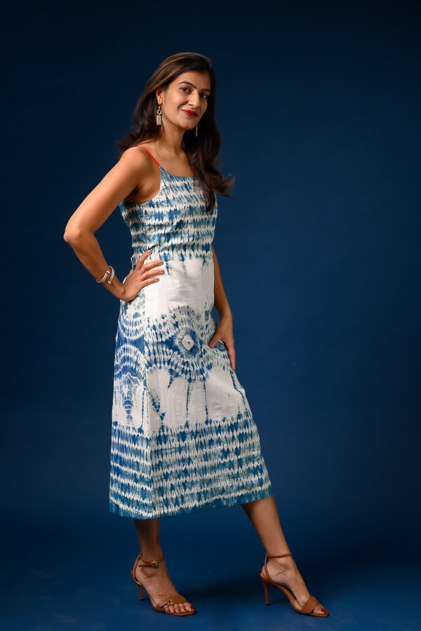 AMAR-KOSA-Strapy-Shibori-Dress-Naturally-Dyed-Mulmul