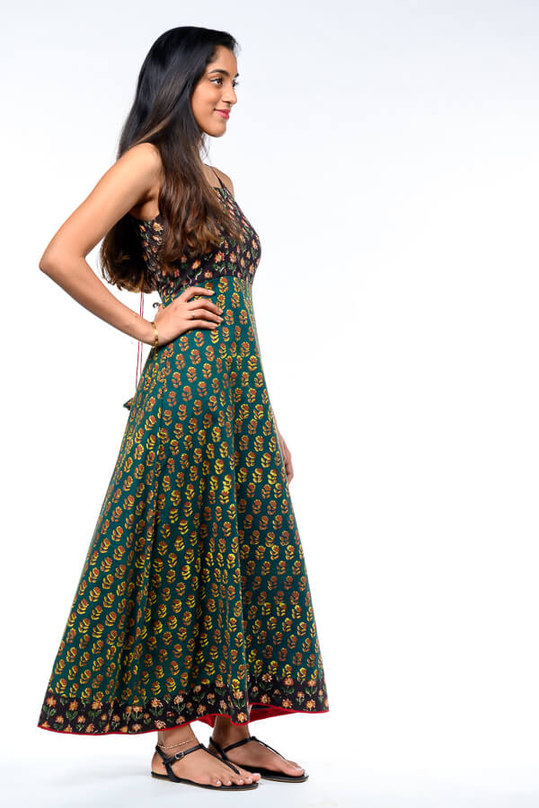 AMAR-KOSA-Bagru-Print-Back-Tie-Dress