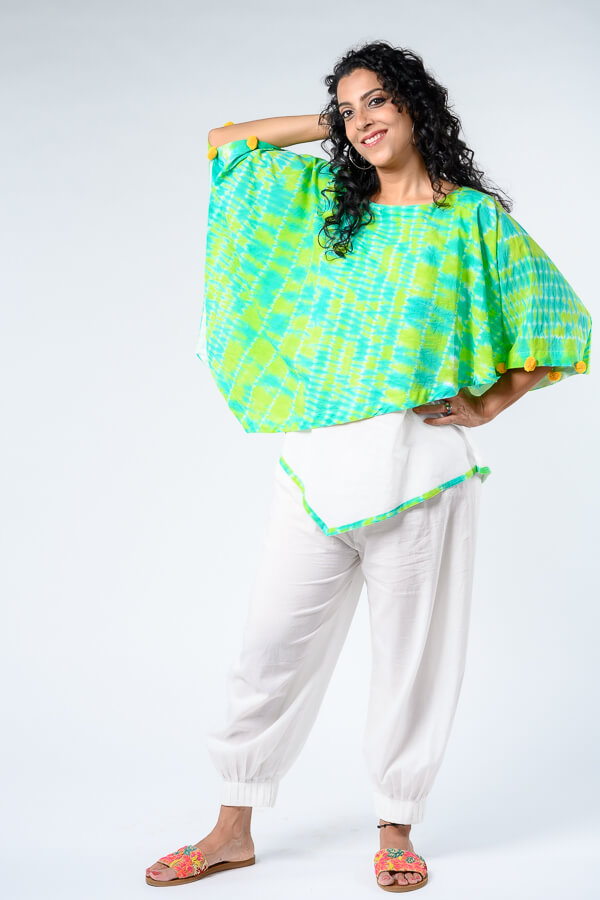 AMAR-KOSA-Shibori-Poncho-Top-TieandDye-Made-In-India