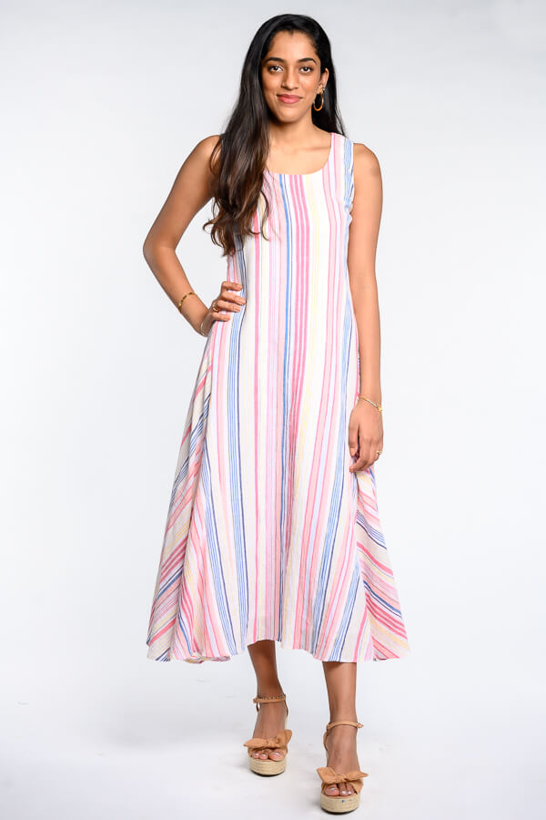 AMAR-KOSA-Striped-Dress