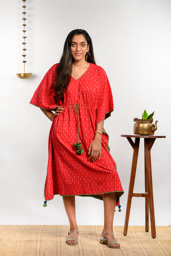AMAR-KOSA-Sustainable-Clothing-Fashion-Brand-Bangalore-India-Handloom-Dresses-Handmade-Ikat-Collection